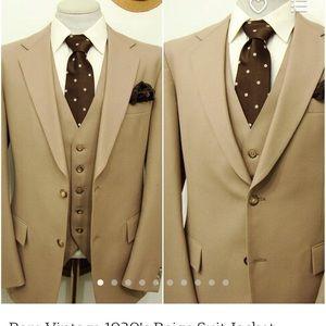 1930s men's suit jacket and vest